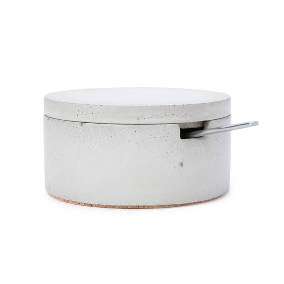 Concrete Salt Cellar with Spoon