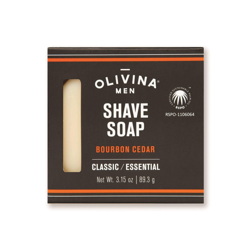 Olivina Men - Bourbon Cedar Shave Soap