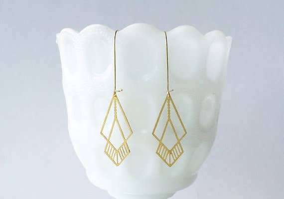 Overlapping Octahedrons Earrings