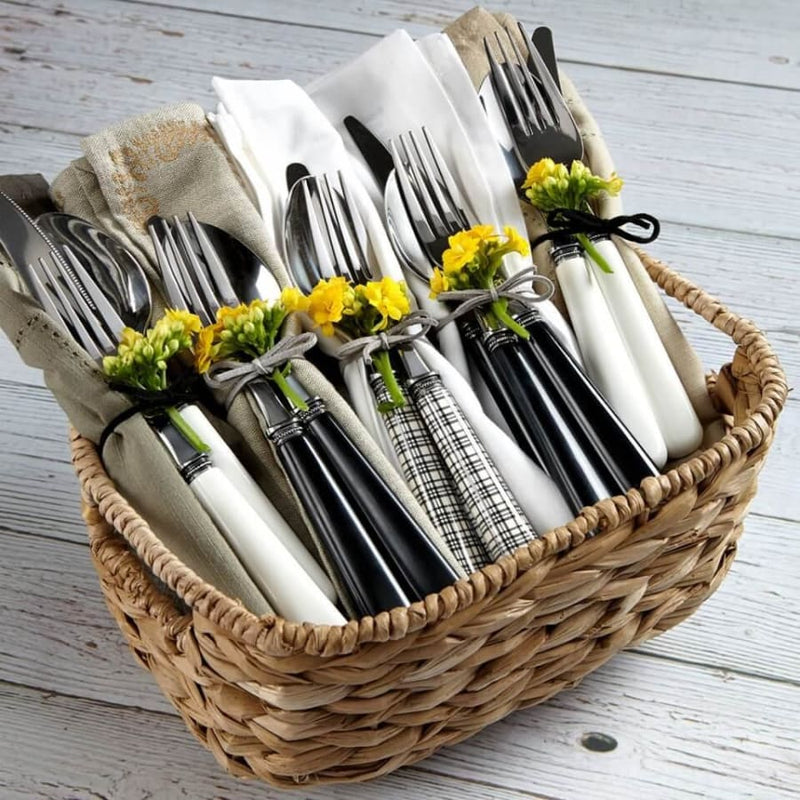 Provence White 20pc Flatware Set with Caddy