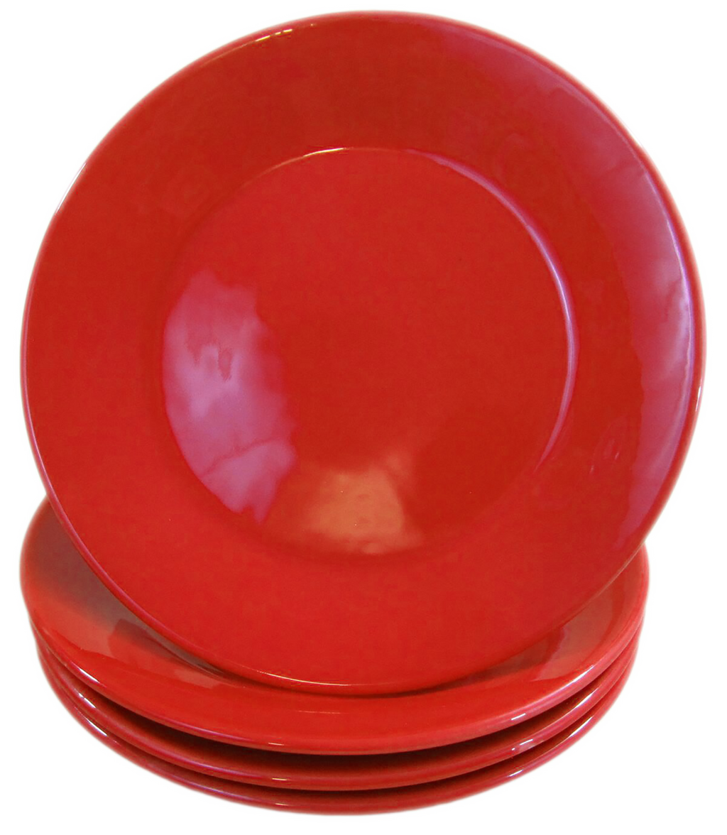 Stoneware Side Plate - Red