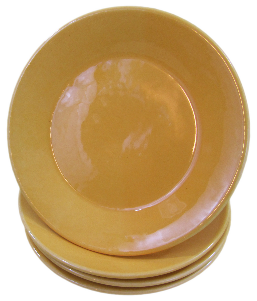 Stoneware Side Plate - Yellow