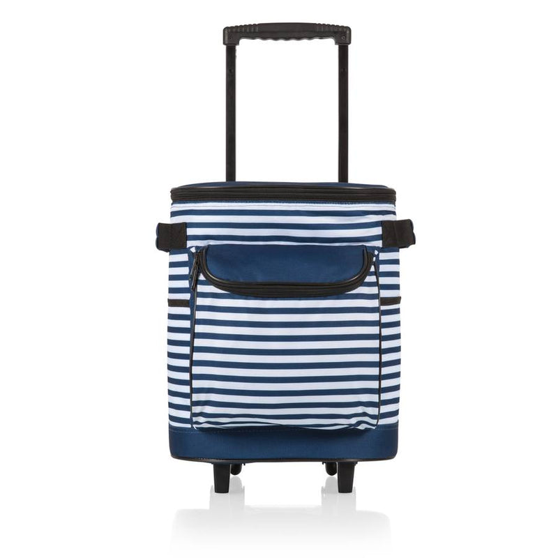 Cooler on Wheels - Navy Stripes