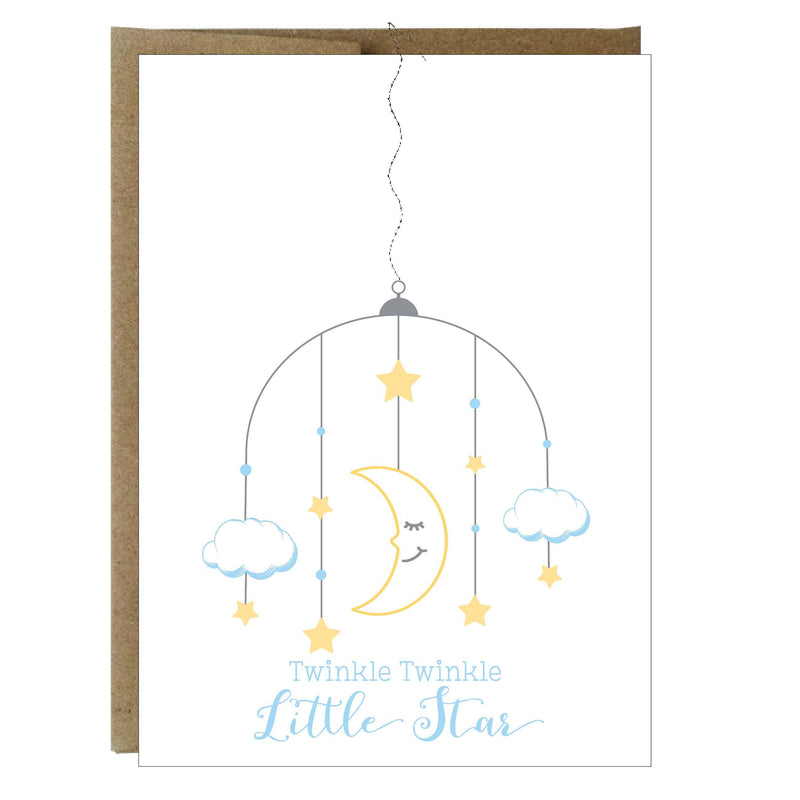 Twinkle Twinkle Little Star Baby with Sewing Greeting Card