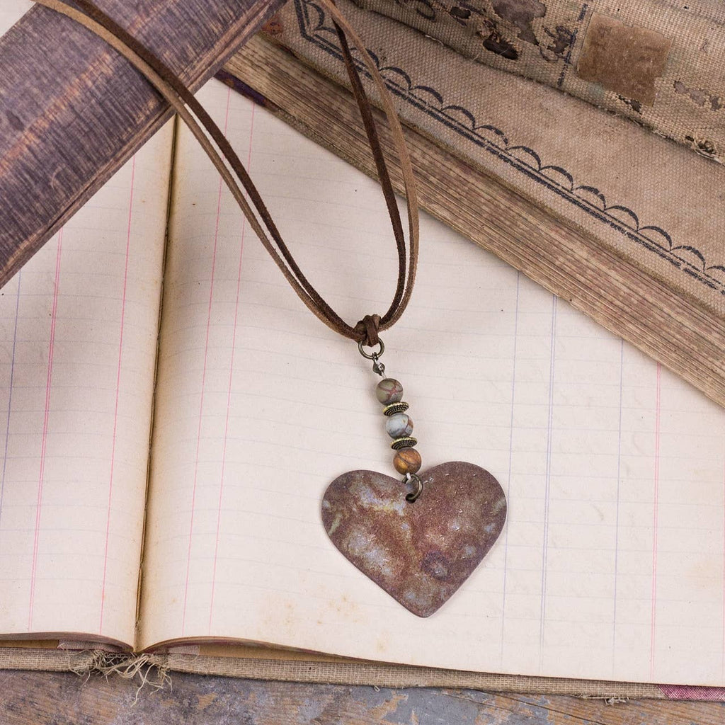 Heart Essential Oils Diffusing Beads Necklace
