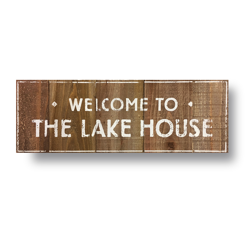 Welcome to the Lake House Cedar Sign (9x25)