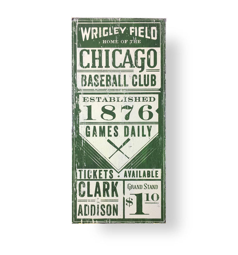 Chicago Cubs Green Marquee Sign (9x30)