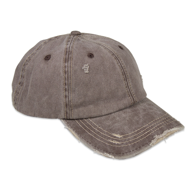 Distressed Unisex Coffee Washed Baseball Cap