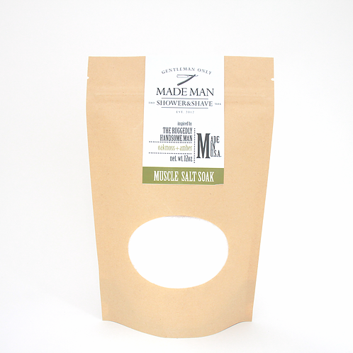 'The Ruggedly Handsome Man' Oakmoss+Amber | Muscle Salt Soak