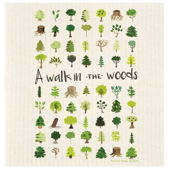 A Walk In The Woods Swedish Dishcloth