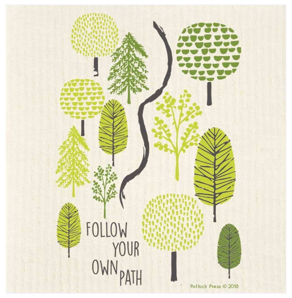 Follow Your Own Path Swedish Dishcloth