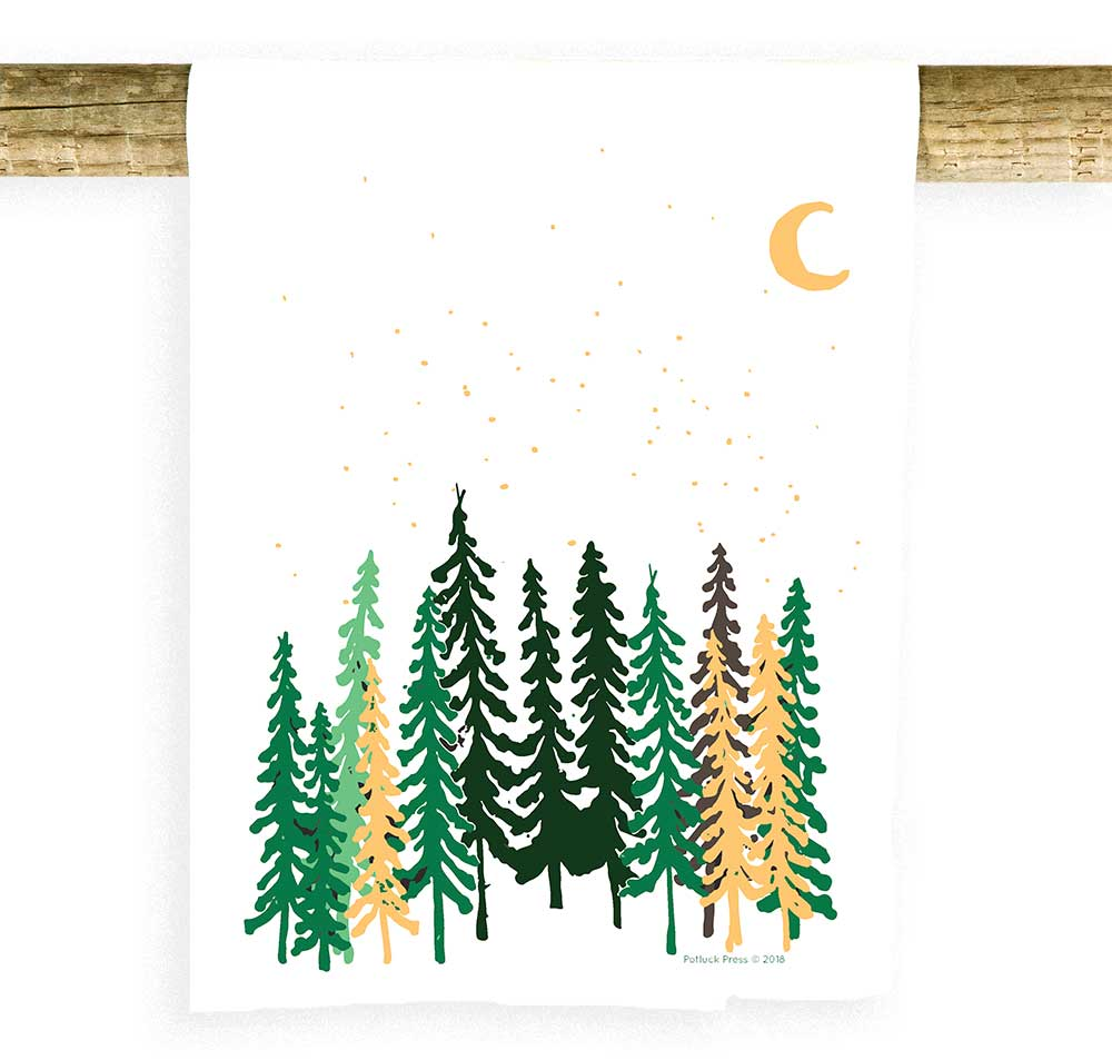 Tall Trees and Moon Towel