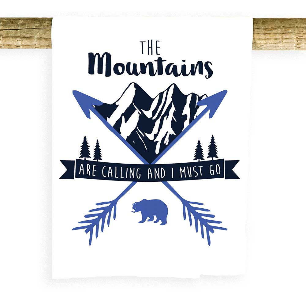 The Mountains Are Calling Towel