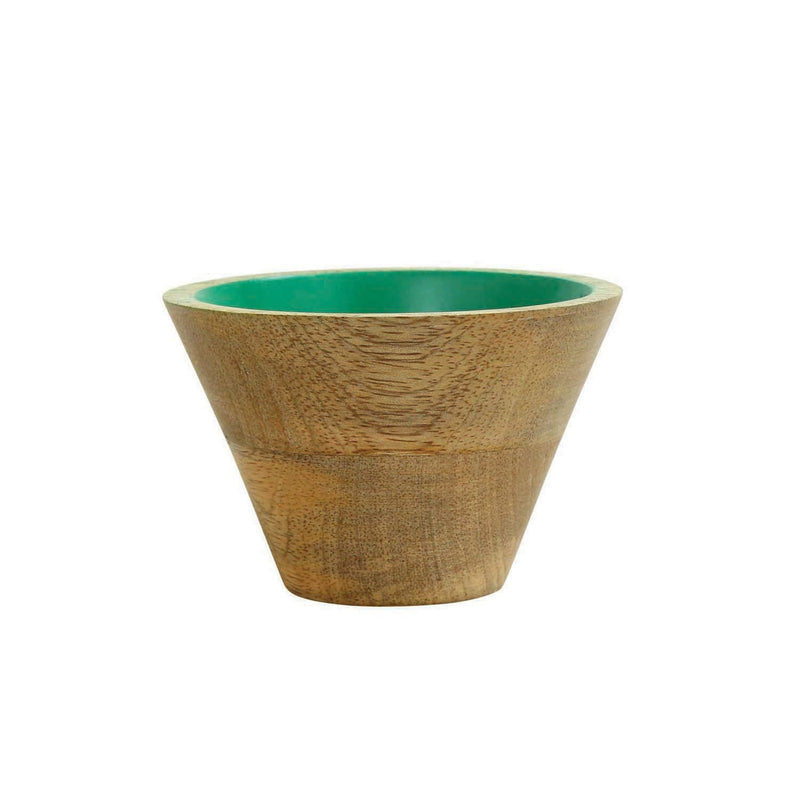 Mango Wood Pinch Bowl - Jade