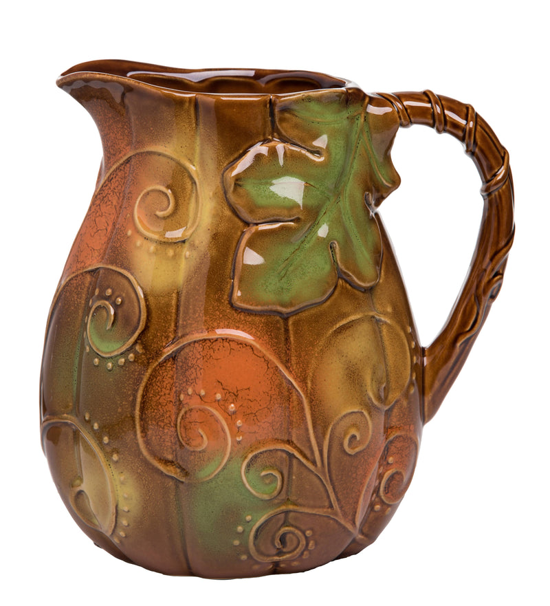 Ceramic Harvest Woodland Greens Pitcher