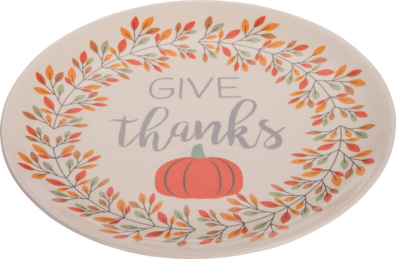 Dolomite Harvest Grateful and Thankful Platter