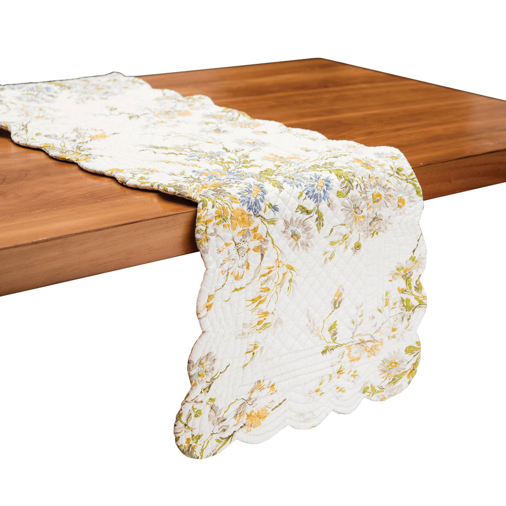 Wildflower Quilted Reversible Table Runner