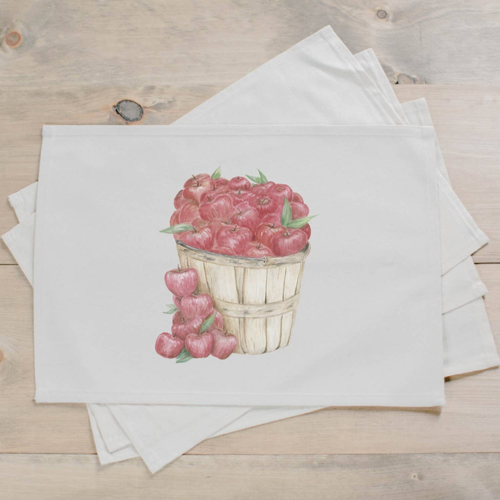 Apple Basket Watercolor Basket Placemat