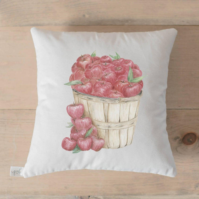 Apple Baskets Watercolor Pillow