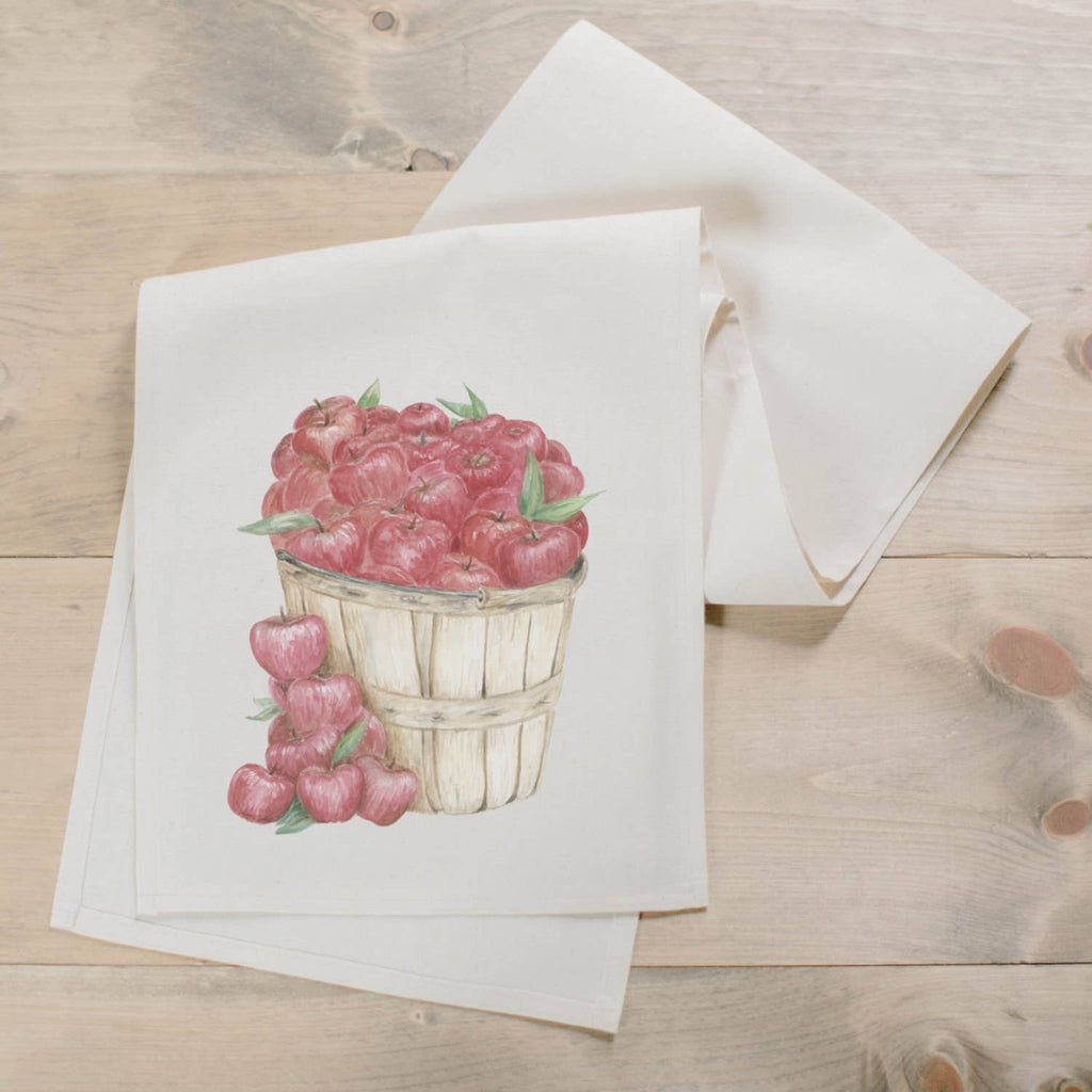 Apple Basket Watercolor Table Runner