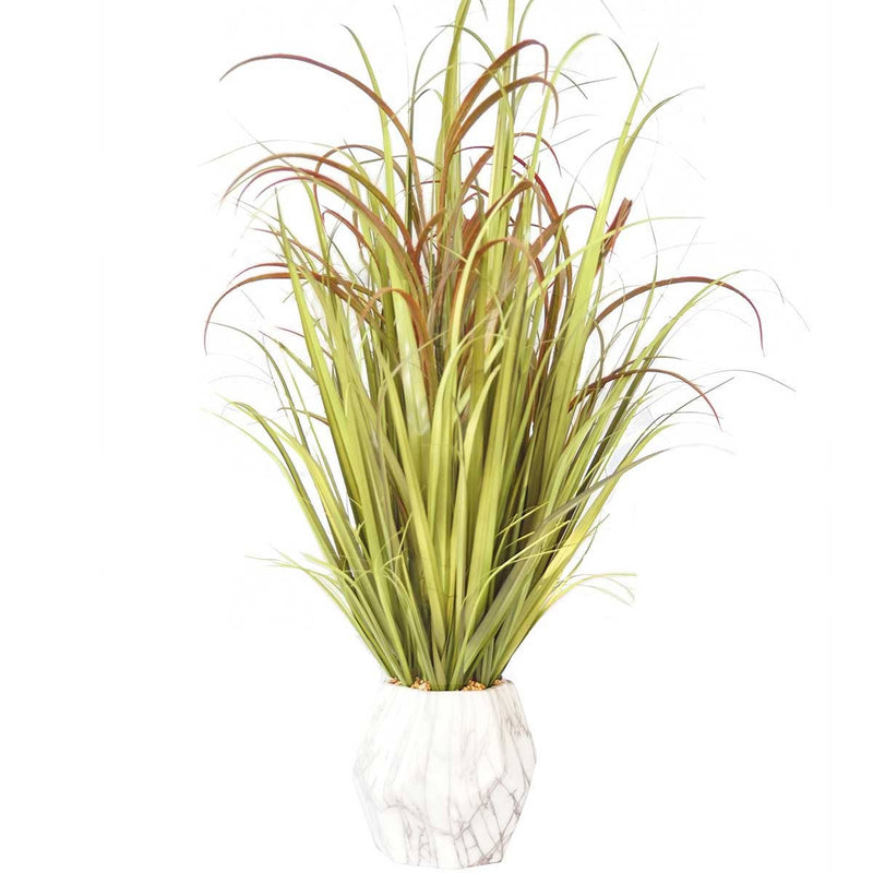 "Onion Grass Mix in Ceramic Pot with USB Charging Station (36"")"