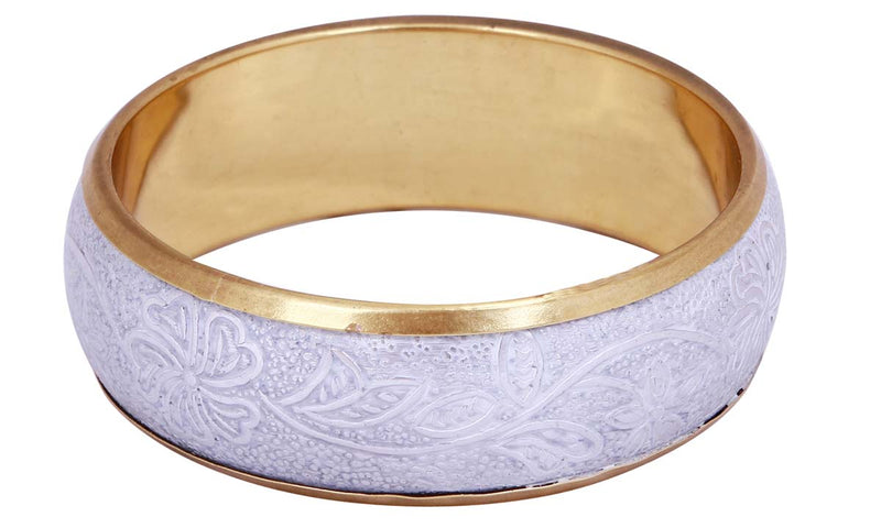 Light Purple & Silver Bangle Bracelet