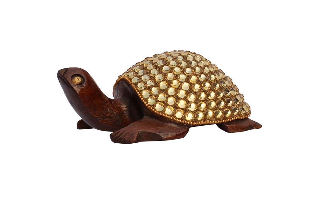 Tortoise with Gold Details