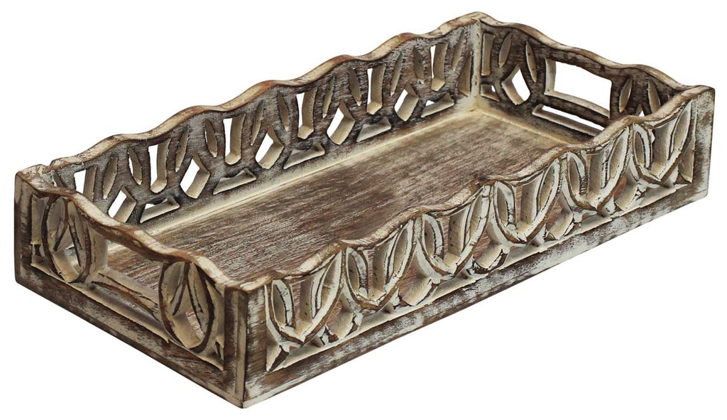 Shabby Chic Wood Tray