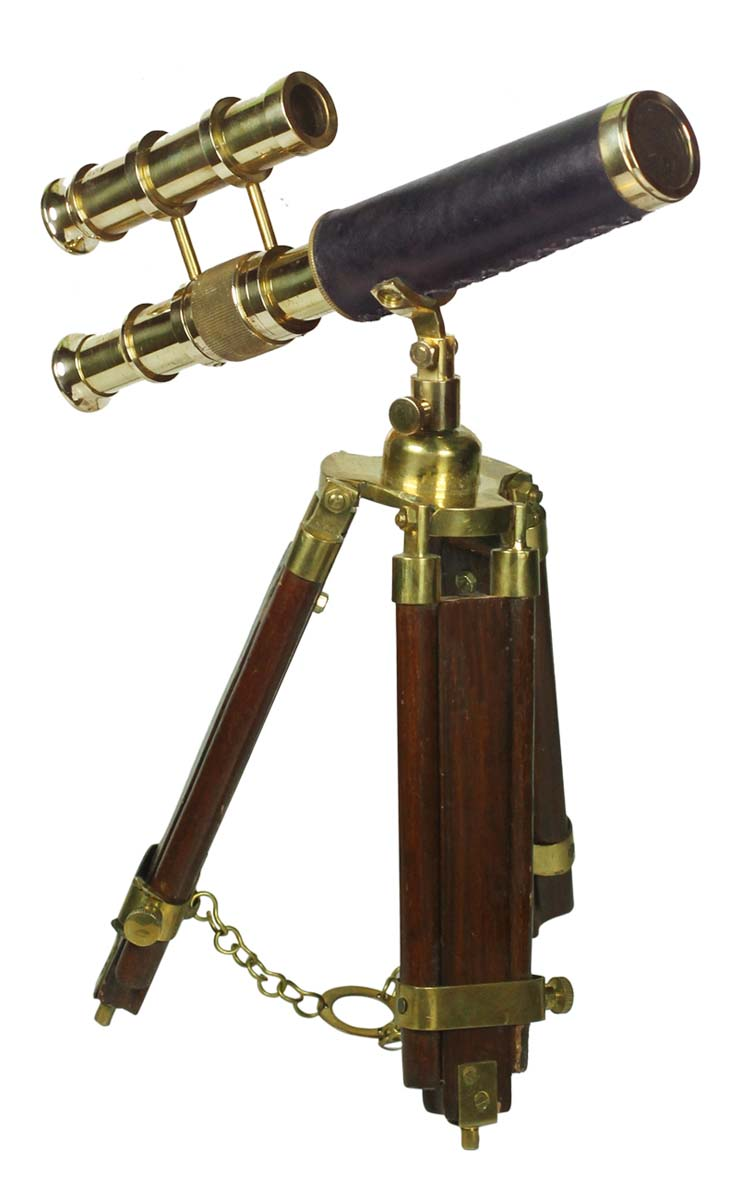 "9.5"" Double Barrel Brass Telescope"