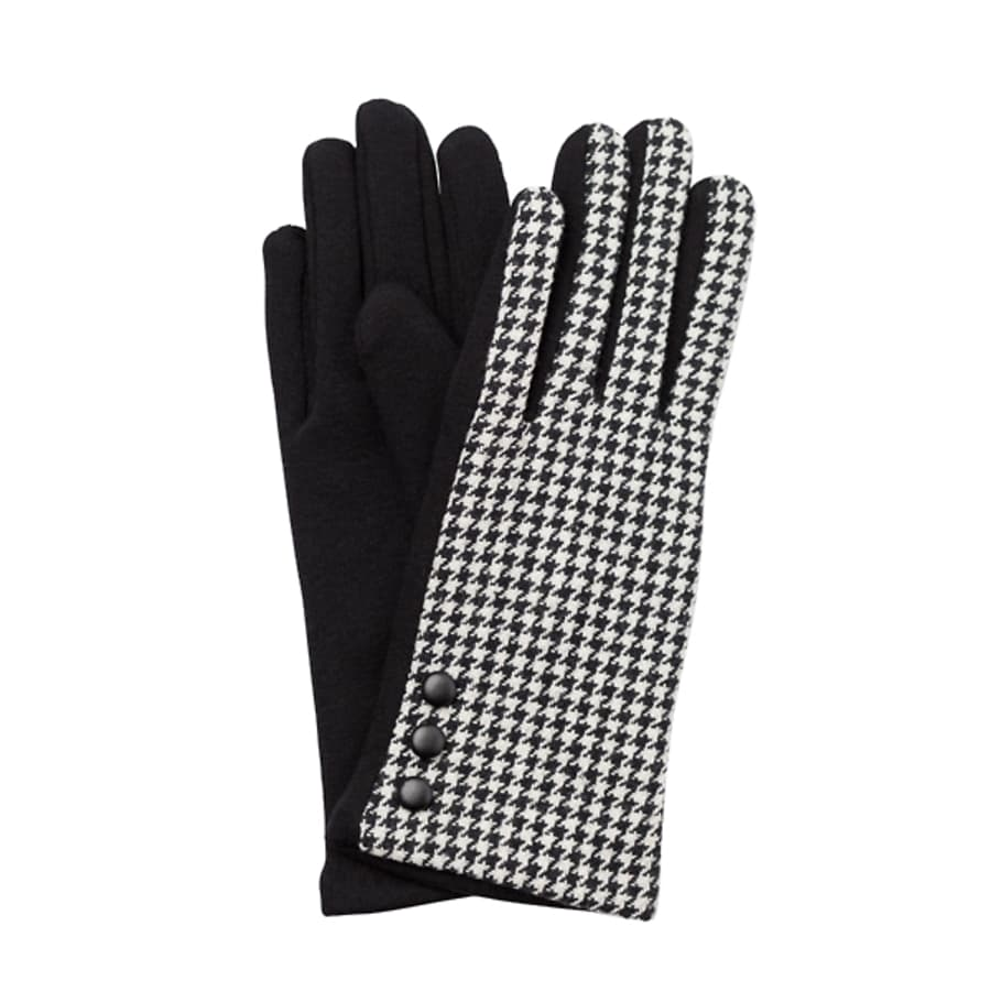 Lucia Houndstooth Gloves