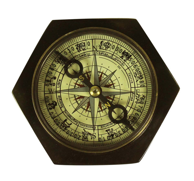 Nautical Brass Antiqued Compass