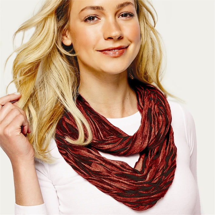 Rippled Infinity Scarf