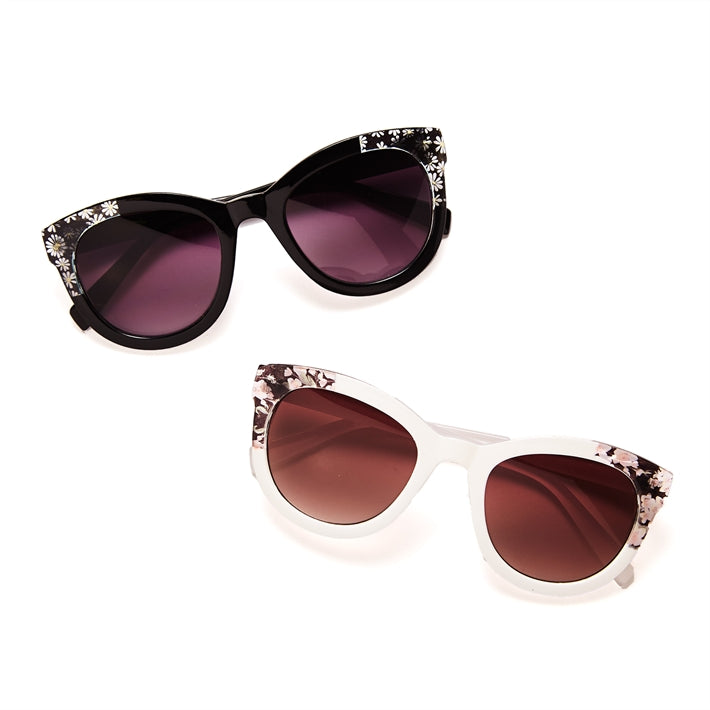 Flower Detail Sunglasses