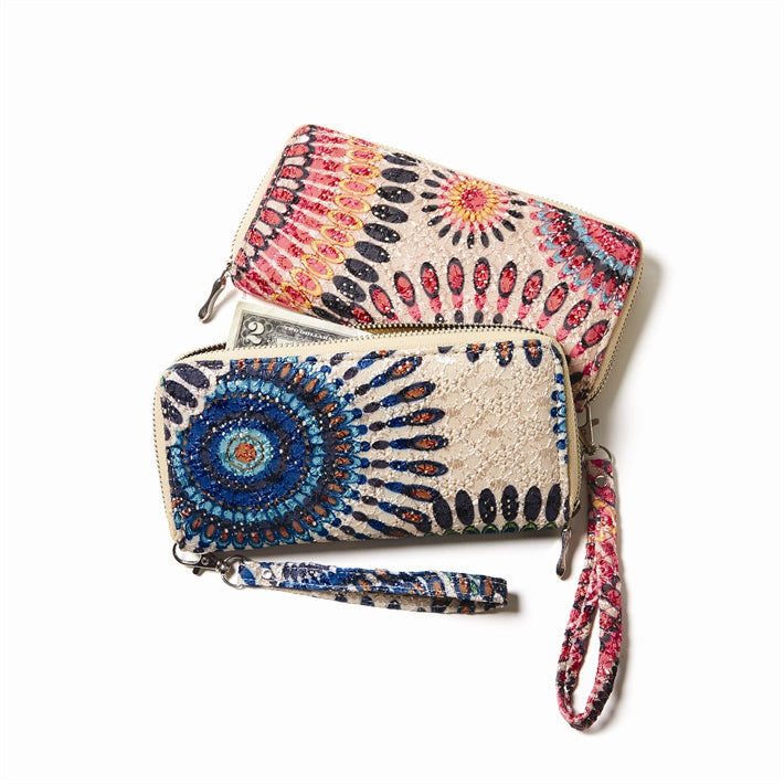 Colorburst Medallion Design Wallet