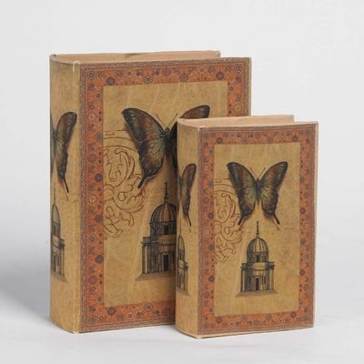 Butterfly House Book Boxes (Set of 2)