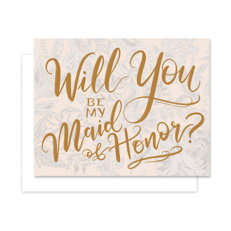 Will You Be My Maid of Honor - A2 Note Card