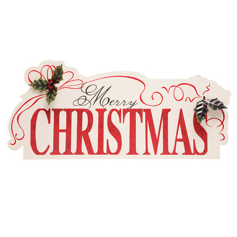 Merry Christmas Wall Sign