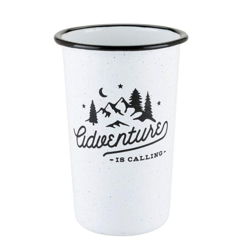 Adventure Enamel Pint