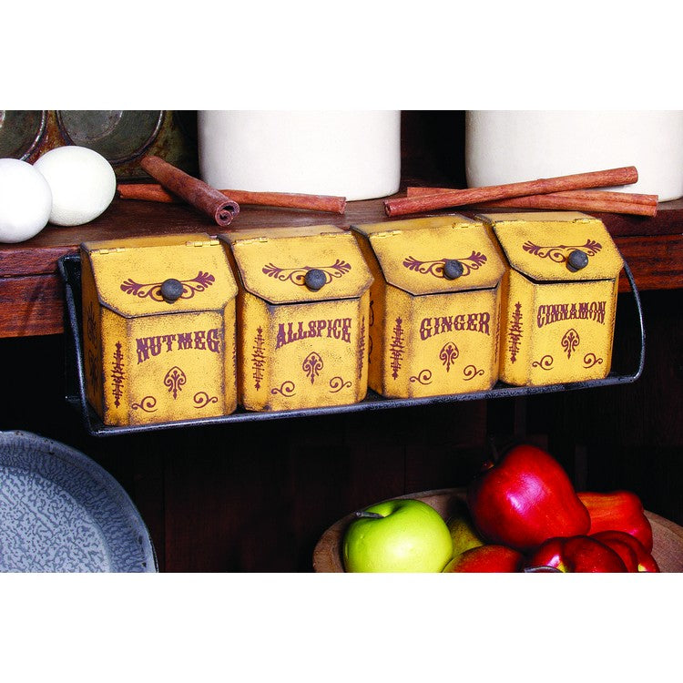 Spice Rack (Set of 4) Canisters