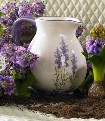 "8"" Lavender Water Pitcher"