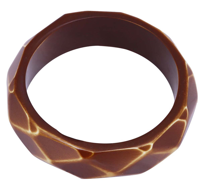 Brown Broad & Round Cuff Bangle