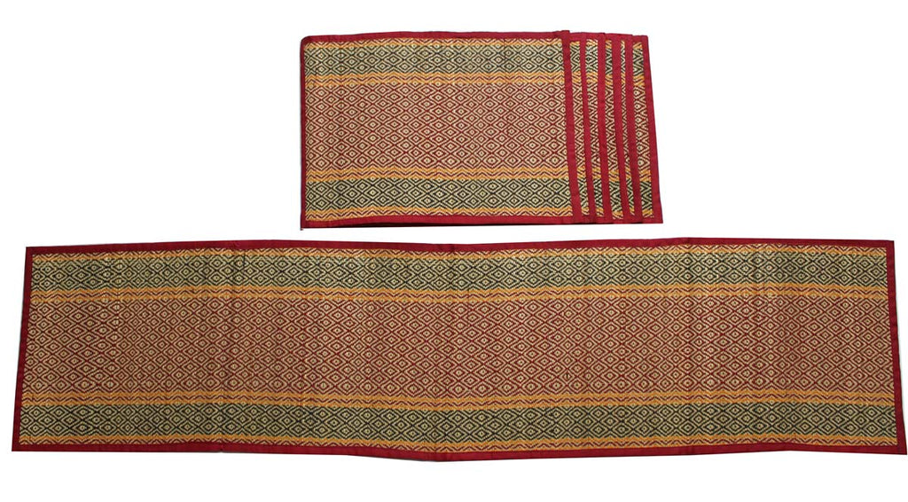 Red Jute Table Runner