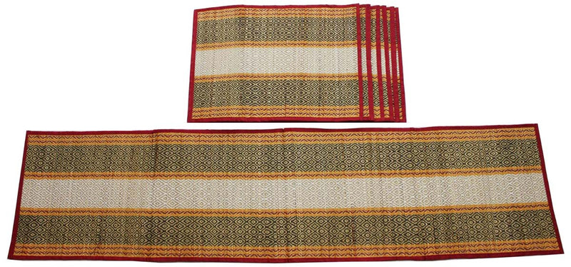 Multi Colored Jute Table Runner