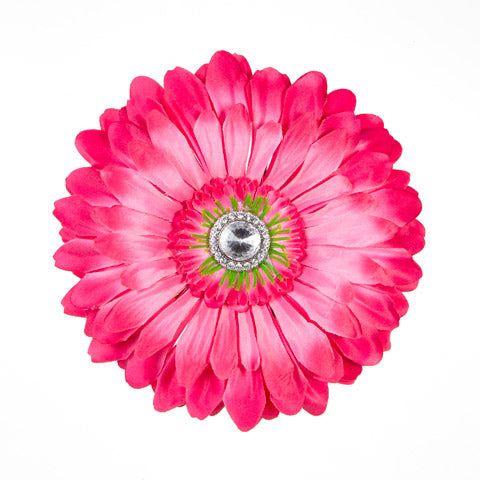 Pink Jeweled Daisy Locker Magnet