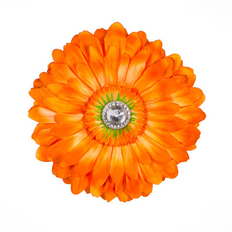 Orange Jeweled Daisy Locker Magnet