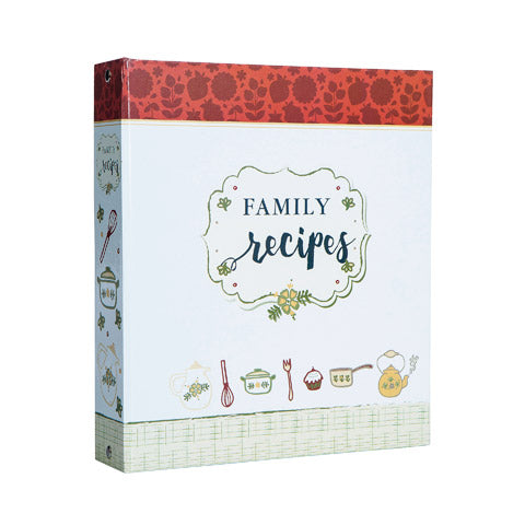 My Family Recipes Recipe Card Binder Set - Vintage Red