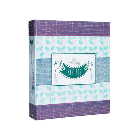 My Family Recipes Recipe Card Binder Set - Modern Herbs