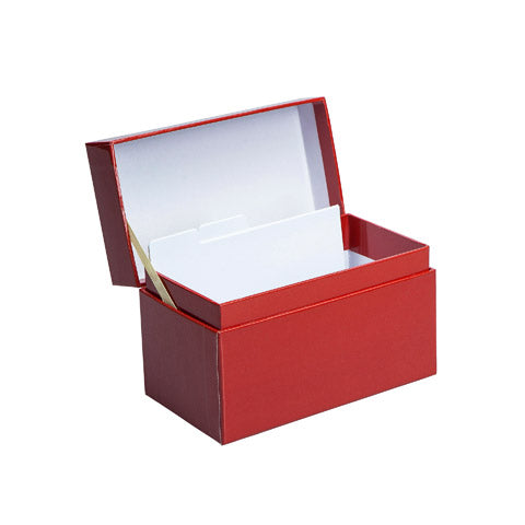 My Family Recipes Decorative Recipe Box - Solid Red