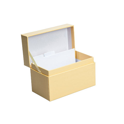 My Family Recipes Decorative Recipe Box - Solid Yellow