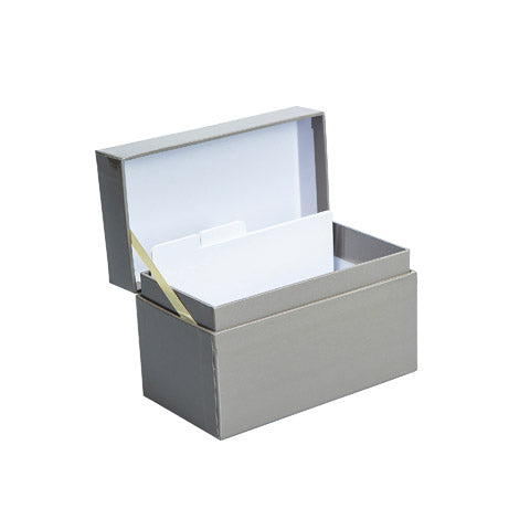 My Family Recipes Decorative Recipe Box - Solid Grey